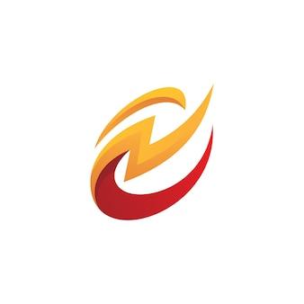 Flash bliksem spanning energie logo icoon
