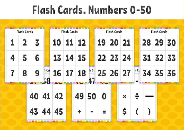 Flash-kaarten. getallen leren. onderwijs ontwikkelen werkblad. activiteitenpagina voor kinderen.