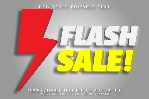 Flash mega bewerkbaar teksteffect reliëf moderne stijl