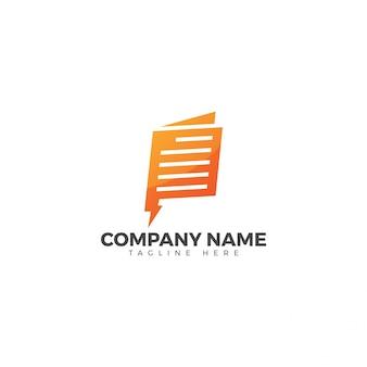 Flash-nieuws logo-ontwerp Premium Vector