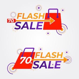 Flash sale badges collectie promotiebadges