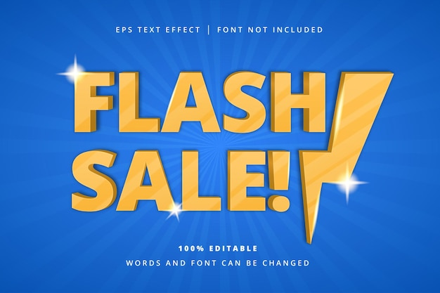 Flash sale bewerkbaar teksteffect