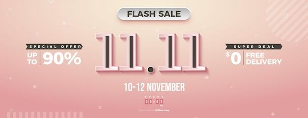 Flash sale bij 11 sale met speciale aanbiedingen en gratis levering