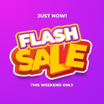Flash sale-sjabloon voor spandoekontwerp. vectorillustratie.