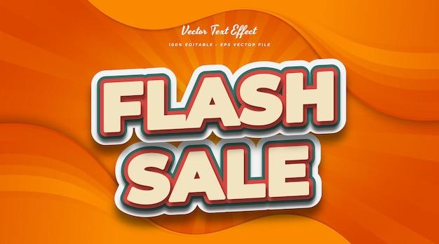 Flash sale-tekst in vintage komische stijl. bewerkbaar tekststijleffect
