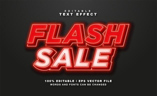 Flash sale teksteffect gratis vector