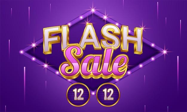 Flash sale winkelen poster of banner