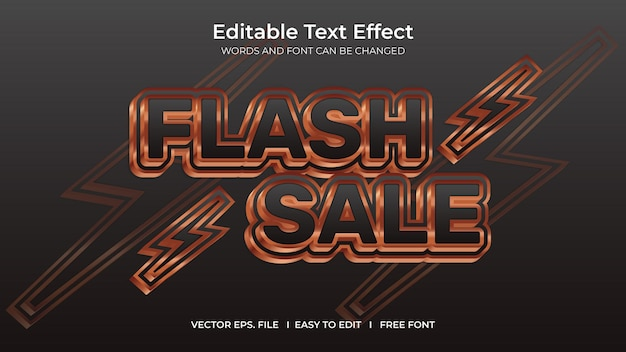 Flash-uitverkoop met teksteffect