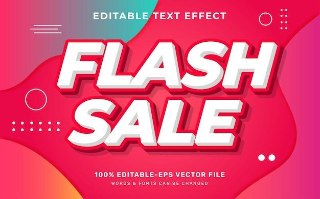 Flash-uitverkoop teksteffect
