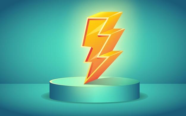 Flash-uitverkoop thunder icon 3d