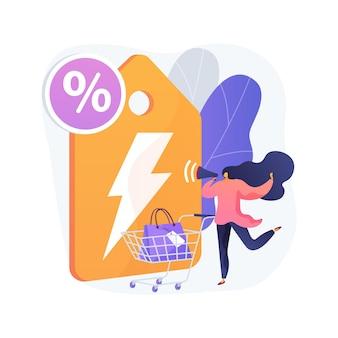 Flash verkoop abstract concept illustratie