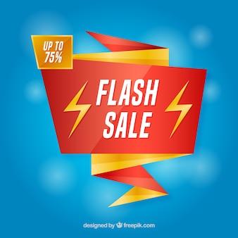 Flash-verkoop achtergrond in verloopstijl