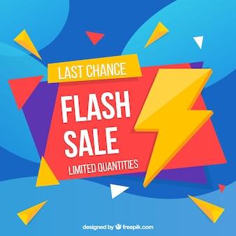 Flash-verkoop achtergrond in vlakke stijl