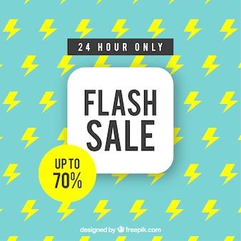 Flash-verkoop achtergrond met patroon in vlakke stijl
