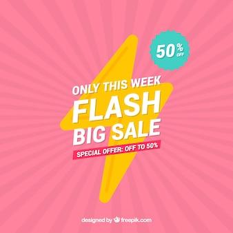 Flash-verkoop achtergrond met verloopkleuren
