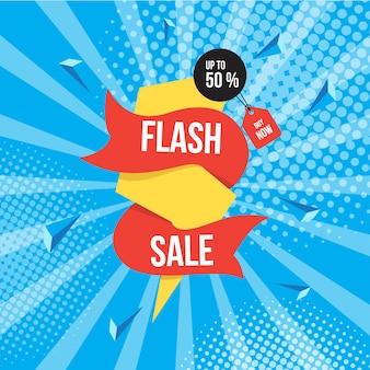Flash-verkoop achtergrond