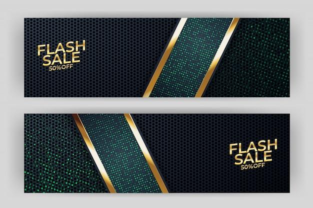 Flash verkoop banner achtergrond luxe design