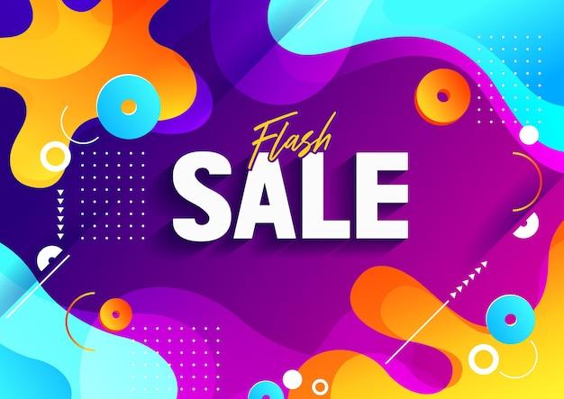 Flash verkoop banner achtergrond.