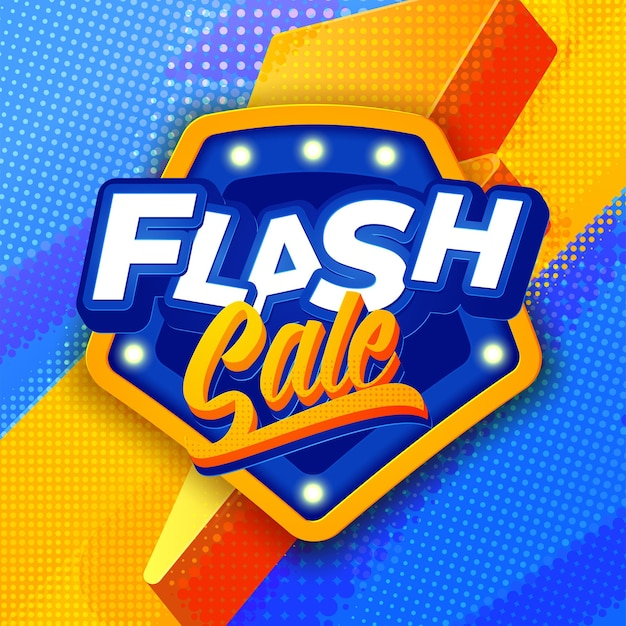 Flash-verkoop banner sjabloon achtergrond