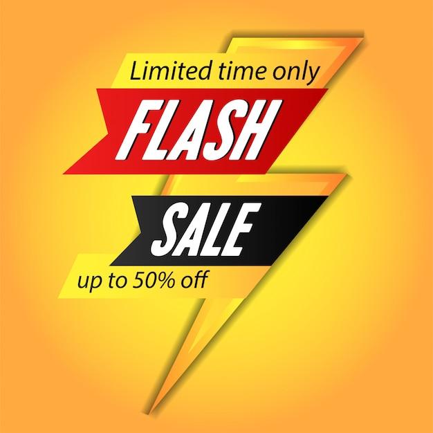 Flash-verkoop banner sjabloon poster