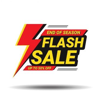 Flash verkoop banner sjabloon voor spandoekontwerp