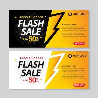 Flash-verkoop banners sjabloon