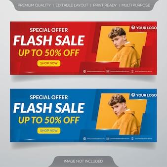Flash verkoop banners