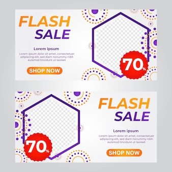 Flash verkoop bannersjabloon promotie bannersjabloon