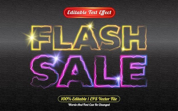 Flash-verkoop bewerkbaar teksteffect licht thema