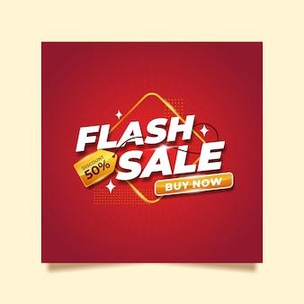 Flash-verkoop exclusief sjabloonontwerp