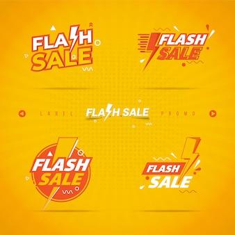 Flash verkoop label op collectie set