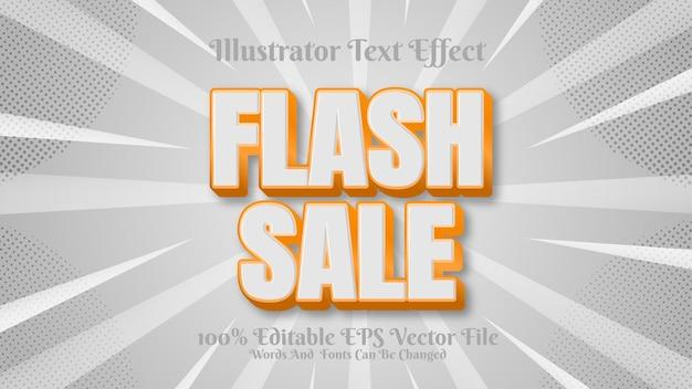 Flash-verkoop met 3d-teksteffect bewerkbare premium
