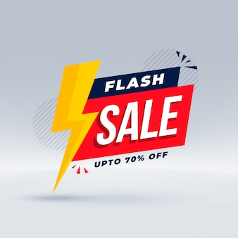 Flash verkoop moderne banner promotionele sjabloon Gratis Vector