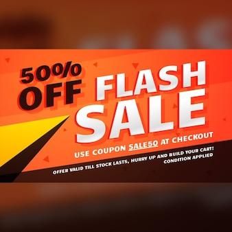 Flash verkoop promotionele banner sjabloon voor marketing
