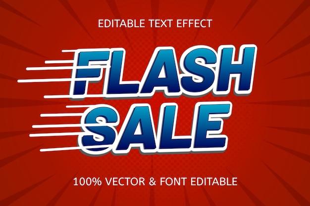 Flash-verkoop reliëfstijl cartoon bewerkbaar teksteffect