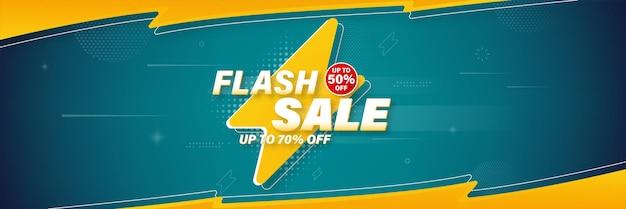 Flash-verkoop sjabloonontwerp voor spandoek voor web of sociale media.