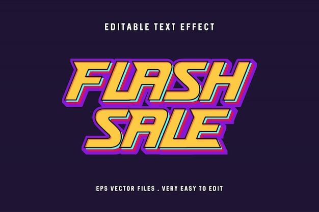 Flash verkoop teksteffect vector
