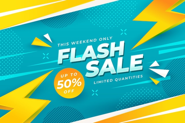 Flash-verkoopachtergrond met korting