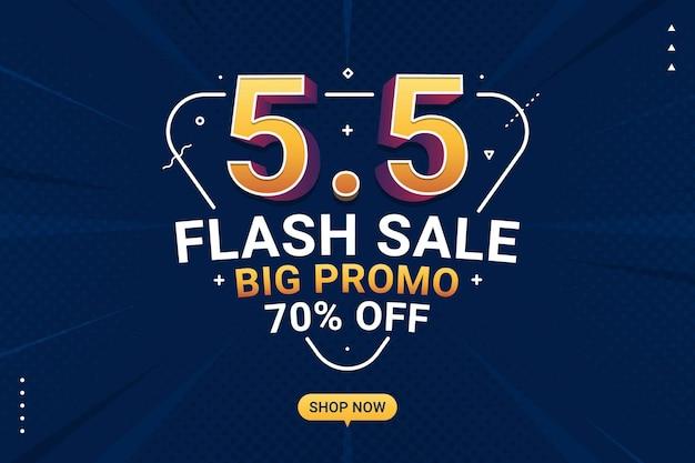 Flash-verkoopbanner winkeldag achtergrond voor zakelijke detailhandelpromotie