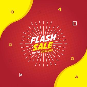 Flash-verkoopbannersjabloon voor sociale media-promotie