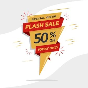 Flash-verkooppromotie-bannermalplaatje voor uw promotieverkoop.