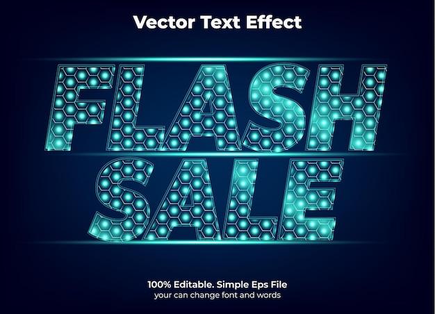 Flash-verkooppromotie teksteffect bewerkbaar