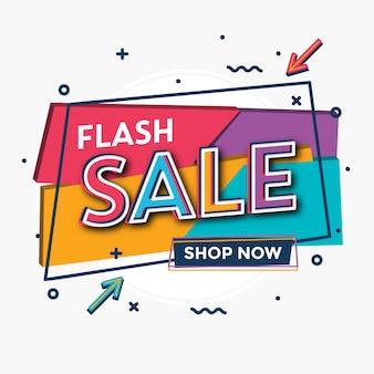 Flash-verkoopsjabloon met heldere typografie