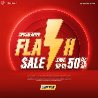 Flash-verkoopsjabloon voor spandoekontwerp voor web of sociale media.