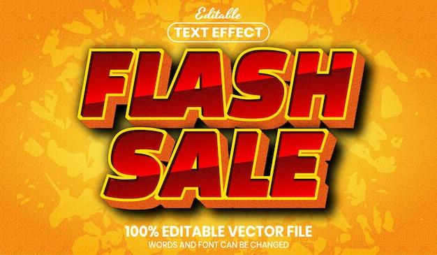 Flash-verkooptekst, bewerkbaar teksteffect in lettertypestijl