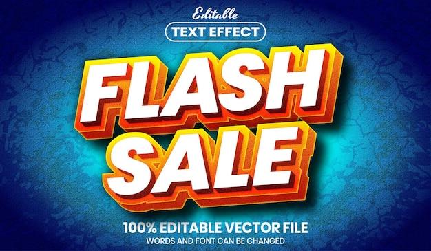 Flash-verkooptekst, bewerkbaar teksteffect