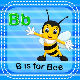 Flashcard letter b is voor bijen