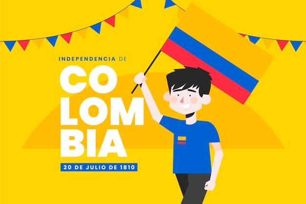 Flat 20 de julio - independencia de colombia illustratie