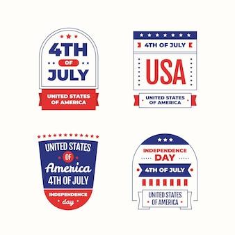 Flat 4 juli - badgde-collectie voor onafhankelijkheidsdag