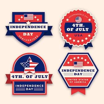 Flat 4 juli - labelverzameling onafhankelijkheidsdag